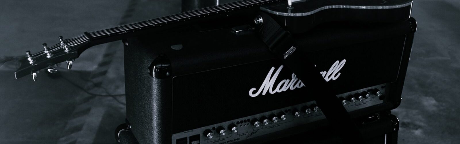 guitar on amp